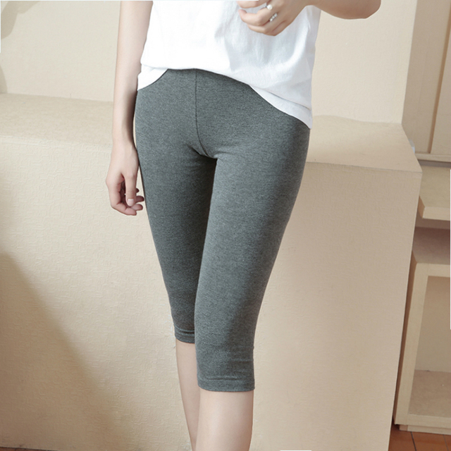 738985d5c9a80 2019 summer modal seven points leggings women's thin section wear Slim  breathable comfortable casual home work leggings