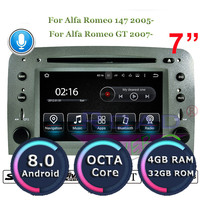 Roadlover Android 8.0 Car DVD Player Radio For Alfa Romeo 147 2005 Romeo GT 2007 Stereo GPS Navigation Automagnitol 2 Din MP3