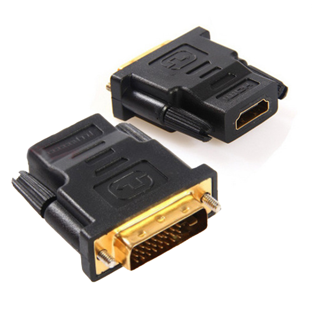 New DVI 24+1 Male to HDMI Female Converter HDMI to DVI Adapter Support 1080P For HDTV LCD Gold Plated Adapter