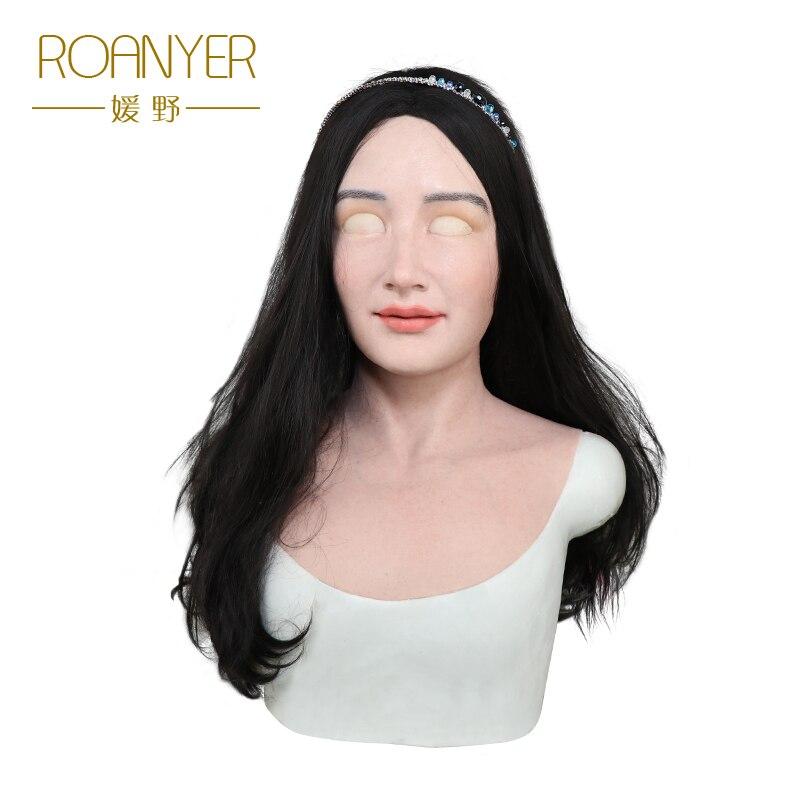 Roanyer Mia реалистичные силиконовые маски для лица Хэллоуин Латекс праздничвечерние ный и вечеринок пикантные женские косплэй Трансвестит ...