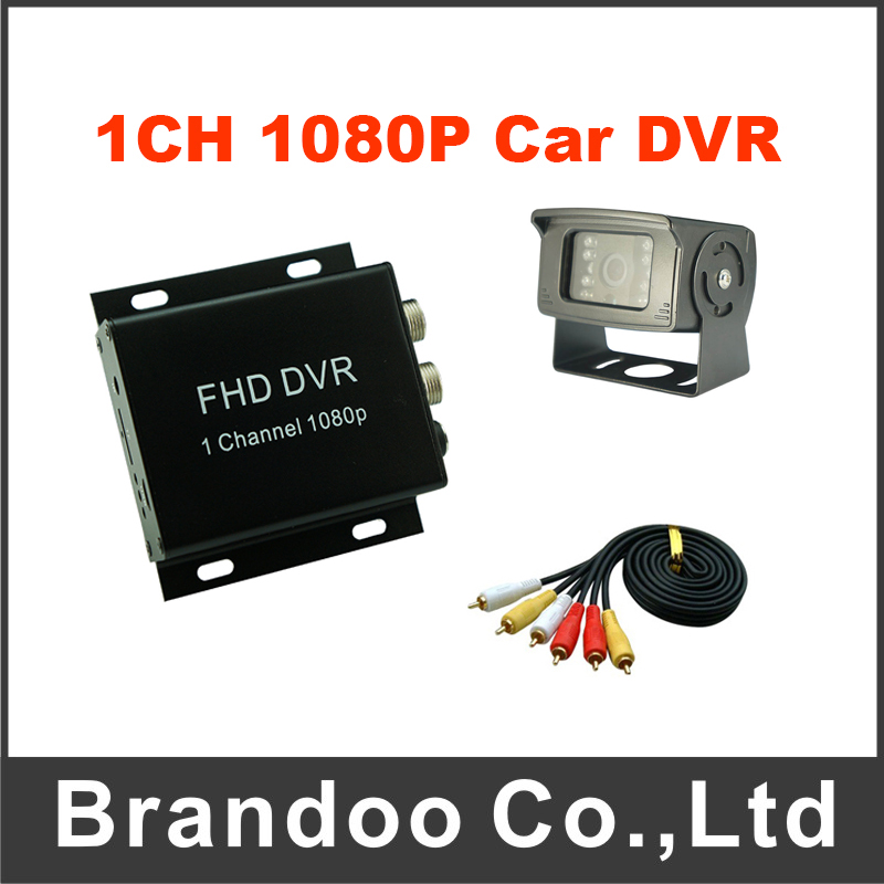 1 Channel 1080P AHD Mobile Car Vehicle DVR Kit Including 5 Meters Video Cable and Rear View Car Camera