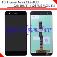 Black 100 New Full LCD DIsplay Touch Screen Digitizer Assembly For Huawei Nova CAZ AL10 CAN