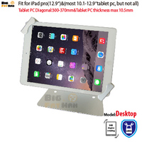 Universal tablet holder security desktop stand for 10.1 12.9'' ountertop lock holder display rack bracket mounting anti theft