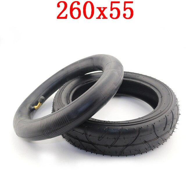 Neumático/neumático y tubo interior 260x55 se adapta a triciclo para niños, carrito de bebé, carrito plegable para bebé, scooter Eléctrico, bicicleta para niños 260*55
