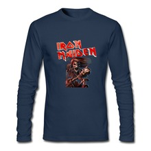 Long Sleeve funny T Shirts Adult iron maiden T-shirts Adult Tees 100% Cotton Clothes Cheap Sale Tops black friday(China)