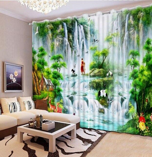 Neue Benutzerdefinierte Vorhänge Für Wohnzimmer 3D Schöne 3D Vorhänge  Moderne Home Decor Benutzerdefinierte Vorhänge Modell Startseite