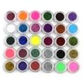 Hot venta 30 unids/set maquiagem mezclado colores brillo de la lentejuela mineral sombra de ojos en polvo profesional sombra de ojos maquillaje cosméticos fijaron