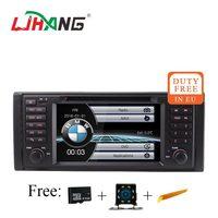 LJHANG 7 дюймов 1 Дин dvd плеер для BMW E39 X5 M5 E38 E53 мультимедиа аудио стерео радио видео GPS навигации головного устройства 1080 P