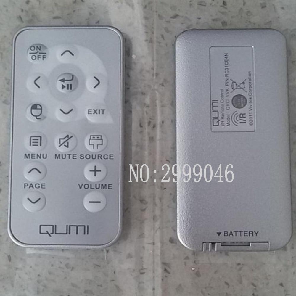 Original REPLACEMENT FIT for Vivitek Qumi Q4/Q2/Q5/, Q7/Q7 Lite/Q7 Plus(RC31CE4N)  PROJECTOR remote control vivitek h1185 кинотеатральный проектор white page 7