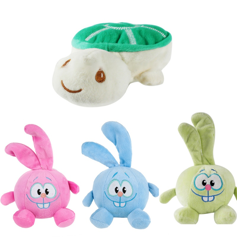 Dog Puppy Pet Ball Shape Cute Lovely Rabbit And Tortoise Stuffed Animal Sound Plush Toys