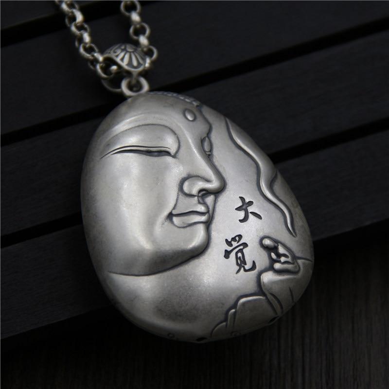 Серебряные ювелирные изделия S990 Foot Silver Guanyin большая мечта цепочка для свитера тайская серебряная подвеска сердце от женских моделей подвес