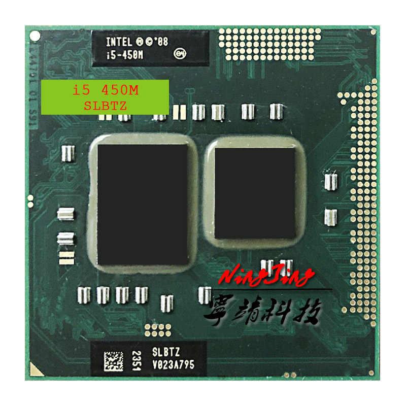 إنتل كور i5-450M i5 450 M SLBTZ 2.4 GHz ثنائي النواة رباعية موضوع معالج وحدة المعالجة المركزية 3 W 35 W المقبس G1/rPGA988A