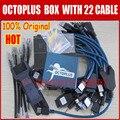100% original octoplus caja con optimus cable set (22 unids.) para samsung para lg + jtag activado