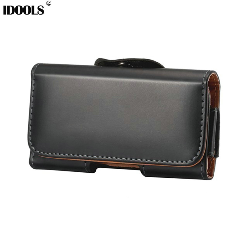 IDOOLS Universal Holster Belt Clip High Quality Genuine Leather Pouch Case For Samsung Galaxy S7 Edge S7 S6 Edge Plus S5 S4 S3