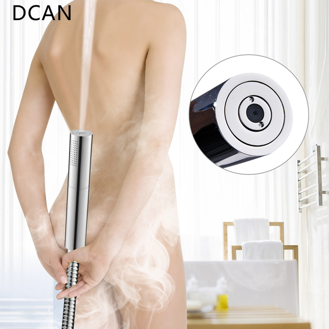 DCAN Switch with Hand Shower Nozzle Brass Pressure Rain & Pulse Spray Gun Round Detachable Washable Shower Head Without Drilling