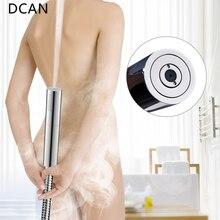 DCAN anahtarı duş başlığı memesi pirinç basınçlı yağmur ve darbe püskürtme tabancası yuvarlak çıkarılabilir yıkanabilir duş başlığı delme olmadan