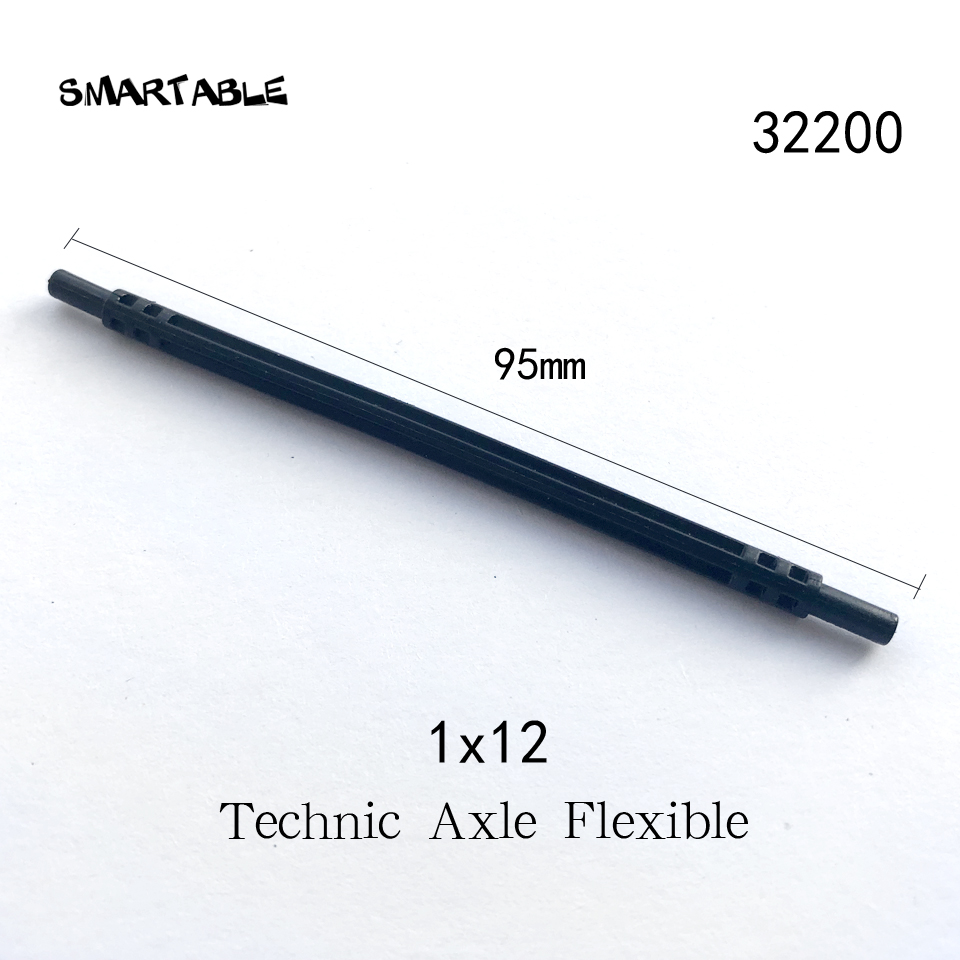 Smartable Technic Axle Flexible 1x12 95mm Building Blocks MOC Parts Toys For Kids Educational Compatible 32200 20pcs/lot image
