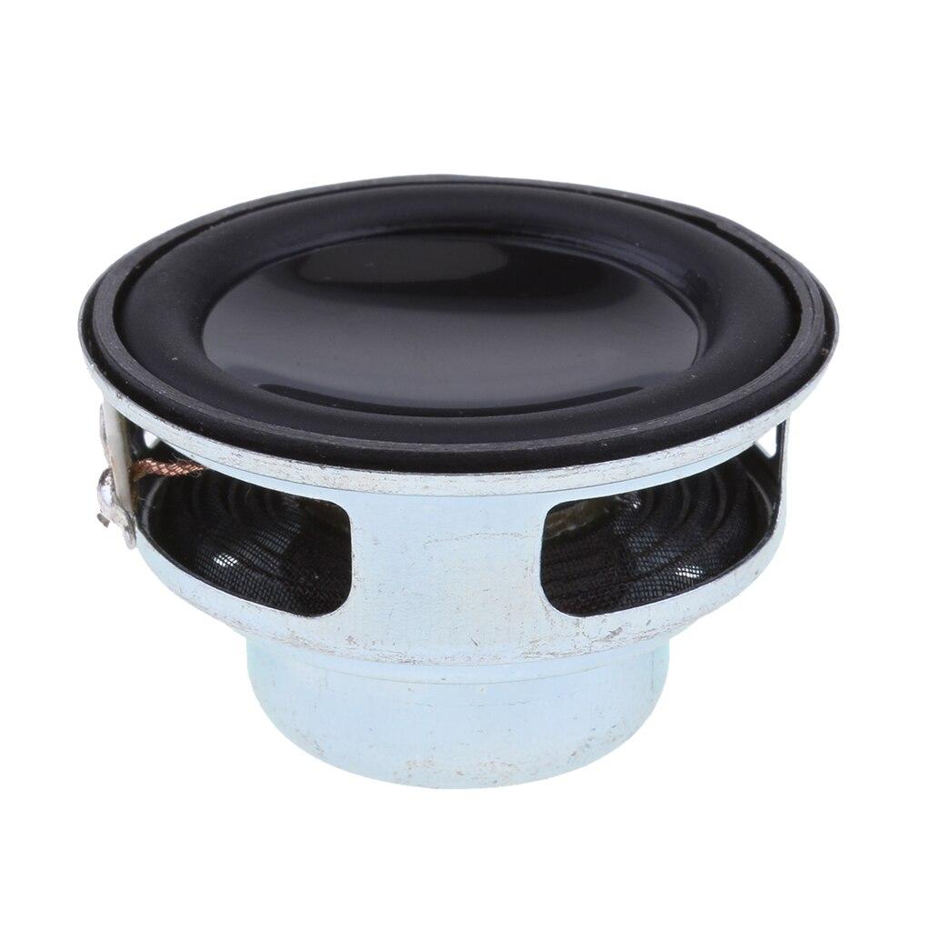 Professional 40mm 4Ohm 5W Full Range Audio Speaker PU Round Hi-Fi Stereo Sound Black Convenient Disassembly