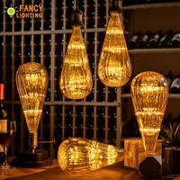 Led bulb E27 Zucchini Starry Sky Lamp 90 260V Dimmable lampada Led For home/Living room/bedroom/Christmas Decor 3W Retro ampul