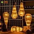 Ha condotto la lampadina E27 Zucchine Cielo Stellato Della Lampada 90-260 V Dimmable lampada Led Per la casa/soggiorno/camera camera da letto/Decorazione Di Natale 3 W Retro ampul