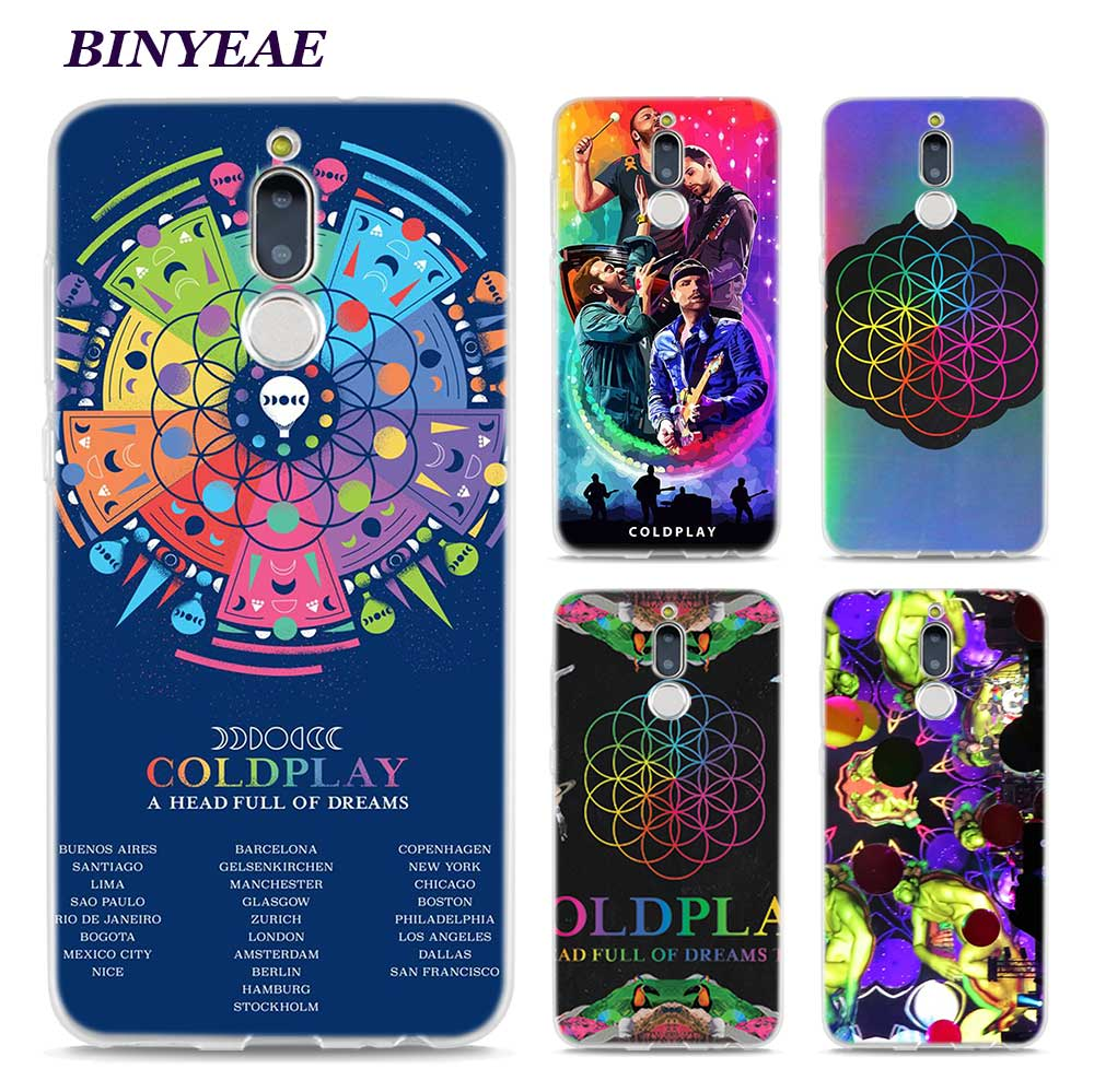 BINYEAE Coldplay A Head Full of Dreams Style Clear Soft TPU Phone Cases for Huawei Mate 10 9 S 10Pro P8 P9 P10 Lite 2017 Mini