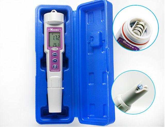 Kedida Portable Waterproof Digital PH Meter 0.00 14.00pH Pharmaceutical  Acidimeter Swimming Pool Water Quality