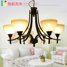 Несколько Люстра Железный Люстра лампы Китайский сельских ретро столовая украшены люстры спальня исследование 2016zzp