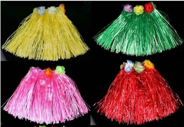 Free shipping,50pcs/lot,Dance skirt,30 cm in length,Hawaiian hula children clothing ,Performance suit.mix wholesale#90