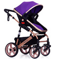 8 Colors Luxury Baby Stroller Folding Baby Carriage High Landscape Sit and Lie for Newborn Infant Four Wheels