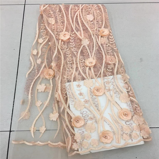 Best Tulle Lace Fabric 2018 African French Lace Fabric High Quality 3D Flowers Nigerian Embroidery Tulle French LaceBest Tulle Lace Fabric 2018 African French Lace Fabric High Quality 3D Flowers Nigerian Embroidery Tulle French Lace