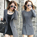 2016 New Winter Women's Fashion Womens Jackets And Coats Cashmere Wool Coat Casual Slim Long Clothing Zipper Jacket C052