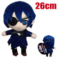 2016 Newest Anime Kuroshitsuji Plush doll toys Black Butler Book of Circus Sebastian,Ciel figures toys