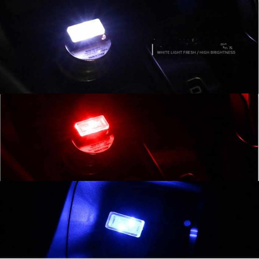 Voiture USB décorative Mini atmosphère lumière pour nissan qashqai volkswagen golf 4 volvo v40 bmw e39 opel corsa d mercedes w203