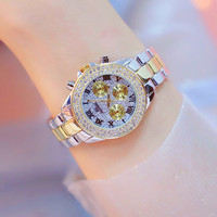 BS Hot Selling Watch 2019 New Popular Crystal Diamond Watches Lady's Dress Watch Girl Fashion Bracelet Watches Montre Femme