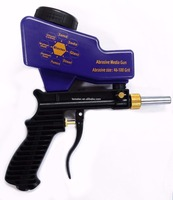 LEMATEC Gravity Feed Sandblasting Gun Air Sandblast Sand Spray Gun For Rust Remove Sandblaster Air Tools