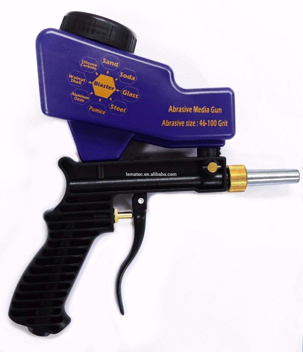 Lematec alimentación por gravedad pistola sandblasting aire chorro de arena pistola para óxido eliminar sandblaster herramientas de aire