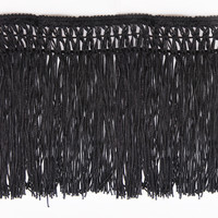 3yards Braideed Black Tassel Fringe Trimming Lace Ribbon Trim Applique Sewing Accessories For Curtain CostumesT1597