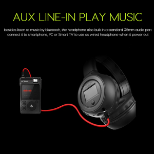 Image 4 - Wireless Headphones Bluetooth Fashion Gaming Headset B570 Outdoor Sports LED Display Screen Bluetooth FM Built in Micro SD Card