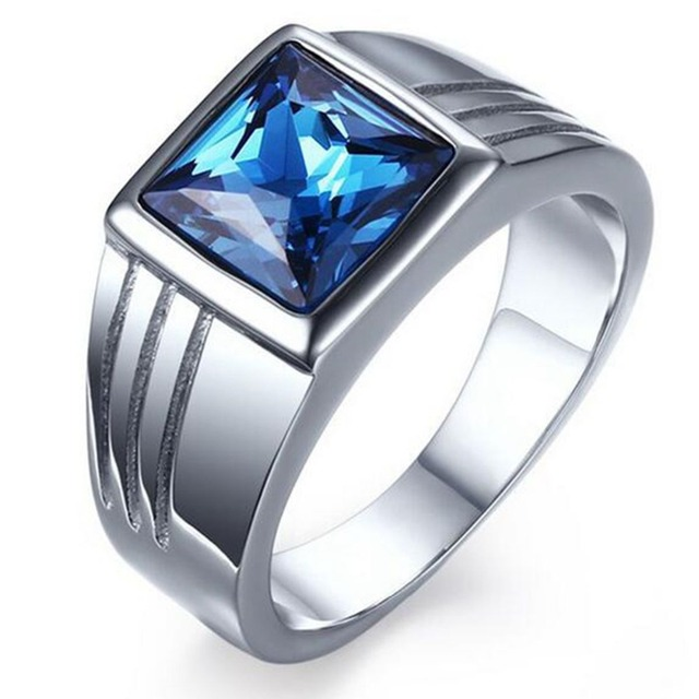 High quality polished male ring Titanium Steel Punk Rings Men