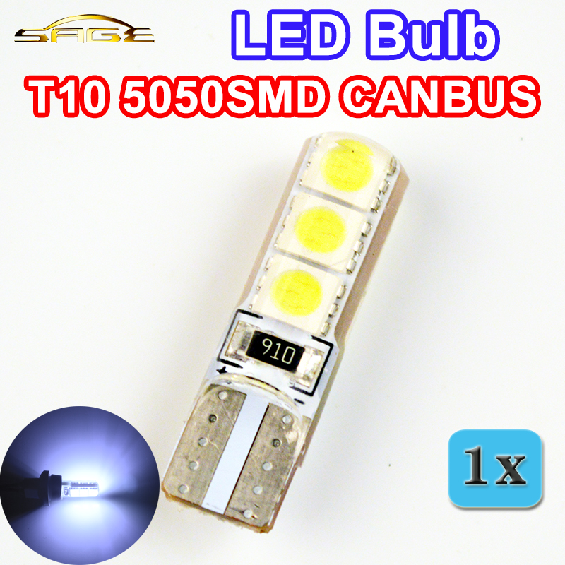 flytop Car LED Bulb T10 5050SMD CANBUS Silicone Shell 6 Chips Cold White Color W5W 12V Canbus Auto Side Clearance Plate Lamp 10pcs high quality t10 canbus 5smd 5050 194 w5w 501 5050 5smd led white car side tail light bulb t10 led canbus w5w led canbus