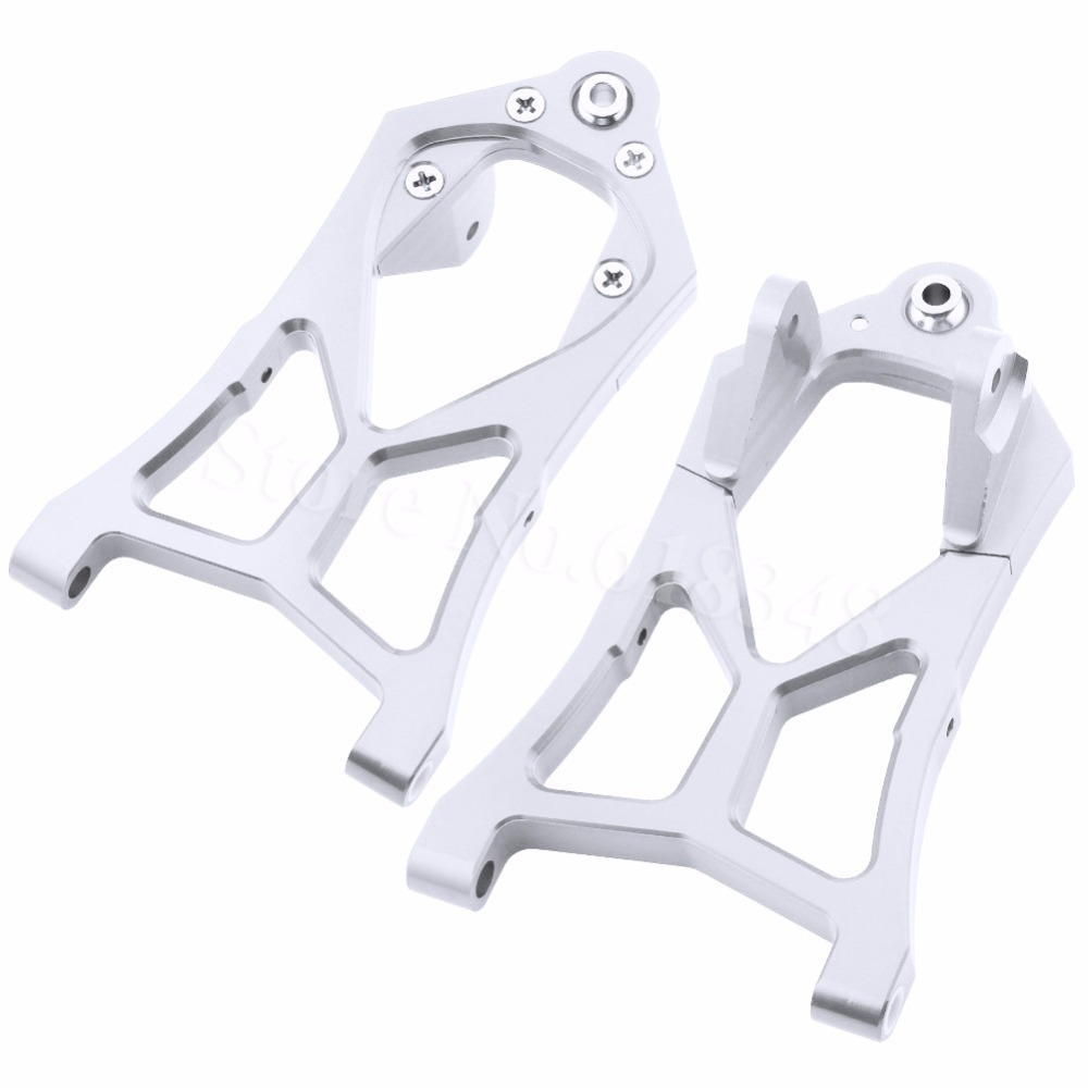 Aluminum Front Lower Suspension Arms For RC 1/5 HPI Model Car Baja 5B 5SC 5T 5R SS T1000 KM ROVAN 85400 piston kit 36mm for hpi baja km cy sikk king chung yang ddm losi rovan zenoah g290rc 29cc 1 5 1 5 r c 5b 5t 5sc rc ring pin clip