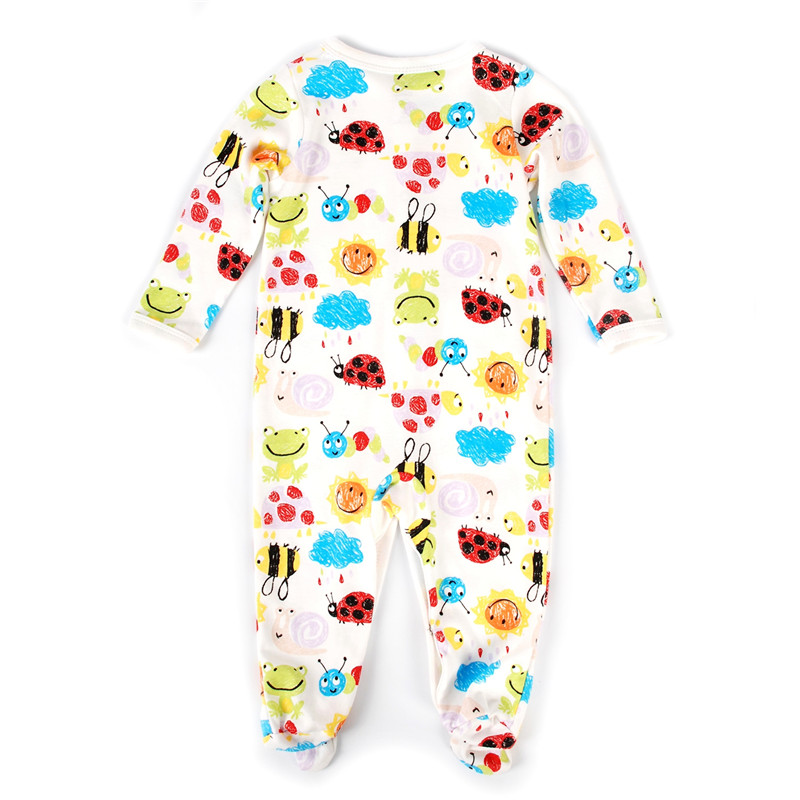 Newborn Baby Romper Long Sleeve Cotton Baby Pajamas Cartoon Printed Baby Clothes For Girl Boy Jumpsuit Outfits Costumes Overalls 3pcs set newborn infant baby boy girl clothes 2017 summer short sleeve leopard floral romper bodysuit headband shoes outfits