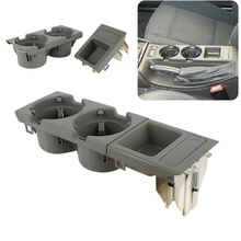 Grey Multi Function Car cup bottle Holder money coins Storage Box For BMW E46 318 320 325 330 1998-2004 Drink Cup Holder