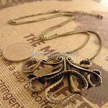 N2028 New Fashion vintage starfish necklace antique brass starfish cheap