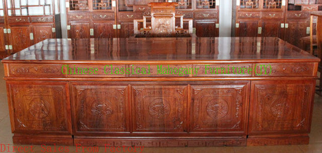 Chinese Clical Mahogany Furniture Computer Desk Office Table Rosewood Style Tradition Luxurious Retro