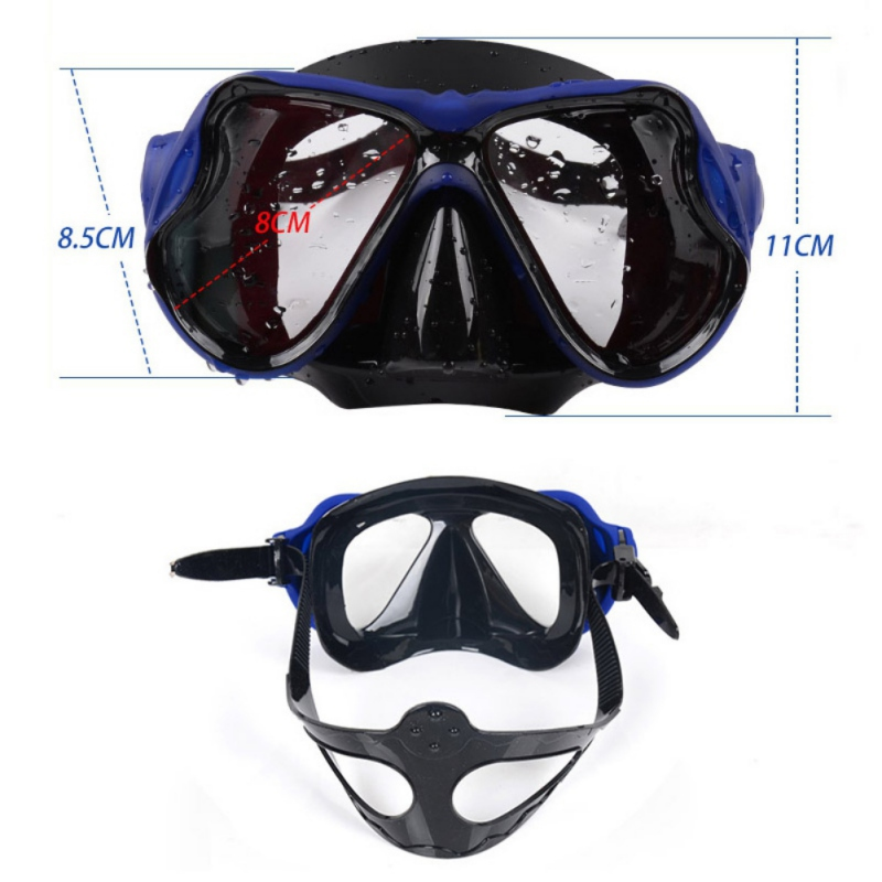 Snorkeling Set Liquid Silicone Scuba Diving Equipment Dry Snorkel 2518+s18 Men Women Diving Swimming Water Sports Equipment