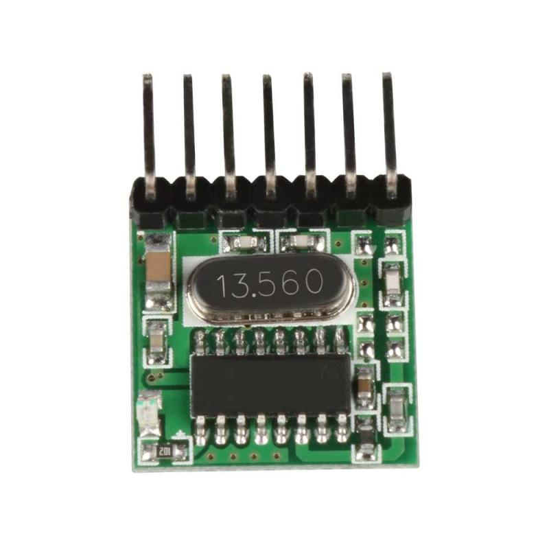 Image 5 - 433 Mhz Superheterodyne RF Wireless Transmitter & Receiver Module with Antenna Remote Control Switch For Arduino uno Kits Z25-in Remote Controls from Consumer Electronics
