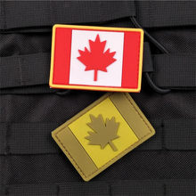 1 Pezzo PVC Canada Flag Patch Patch Zaino Borsa Giacca Armband Badge Sticker Esercito Distintivo Fans Militari Patch(China)
