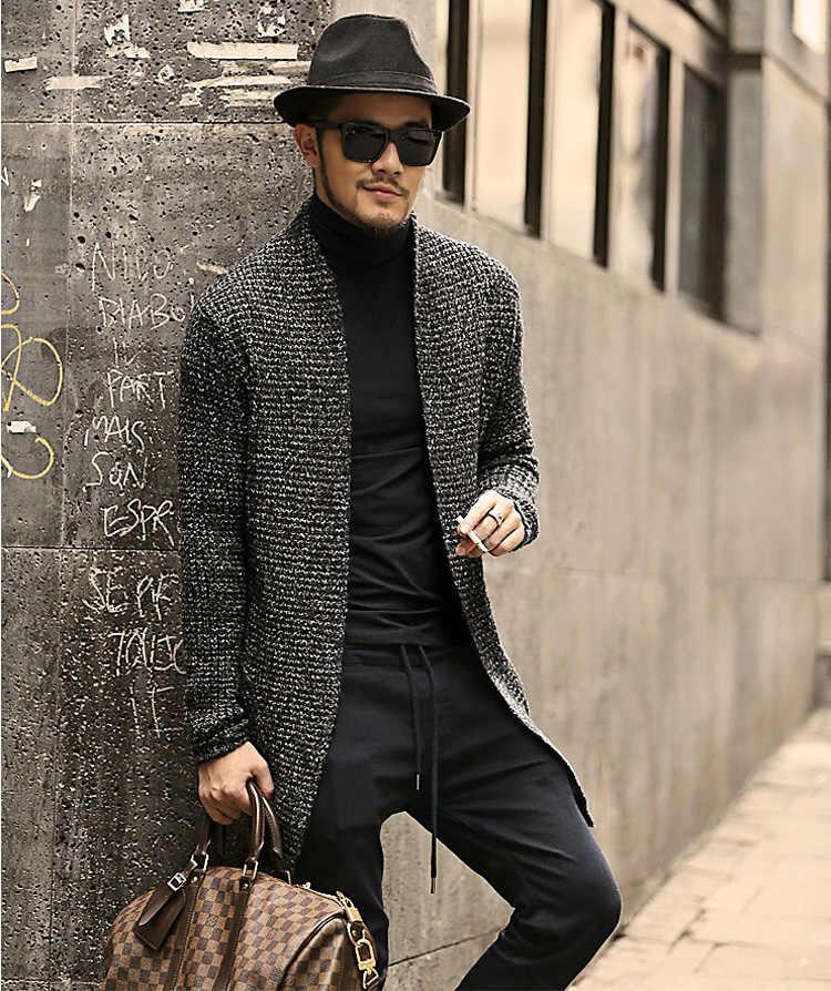 Мужской свитер, кардиган с длинными рукавами, мужской Стильный кардиган, одежда, модный толстый теплый свитер из мохера, мужской английский стиль, лидер продаж, J511