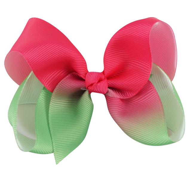 Girls Pastel Rainbow Hair Bows